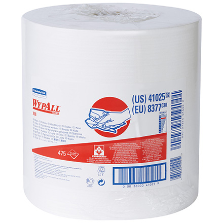 Kimberly Clark<span class='rtm'>®</span> WypALL<span class='afterCapital'><span class='rtm'>®</span></span> X80 White Heavy-Duty Jumbo Roll Wipers