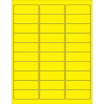 Fluorescent Removable Rectangle Laser Labels